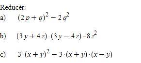 ligninger med parenteser