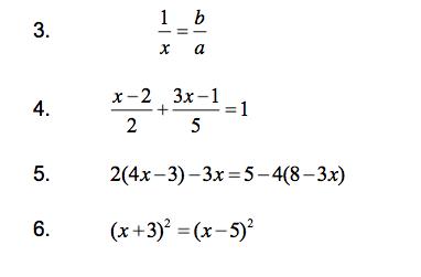 ligninger med brøker