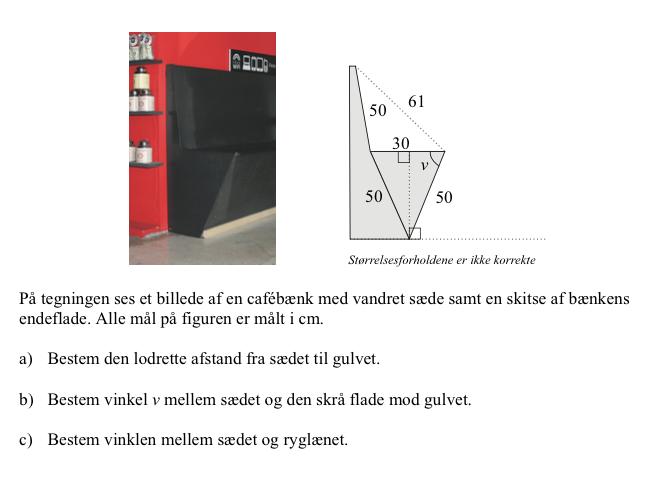 afstand og vinkel.... - Matematik - Studieportalen.dk