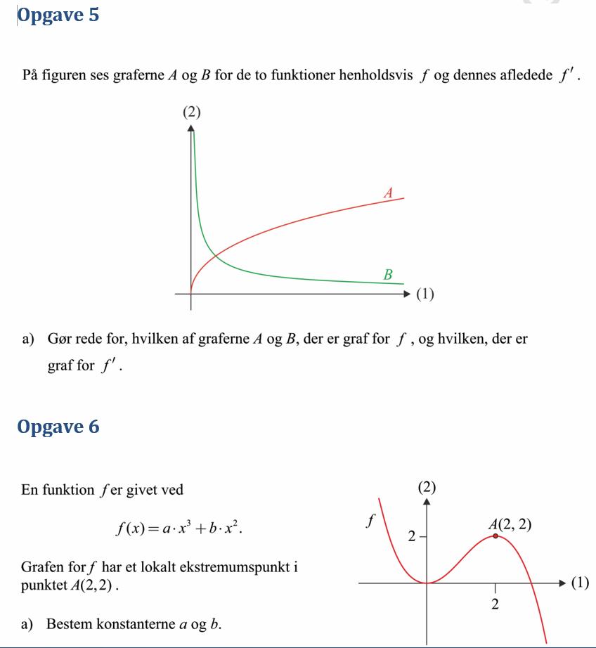 matematik funktioner opgaver