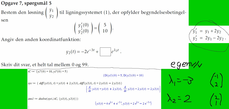 differentialligninger maple