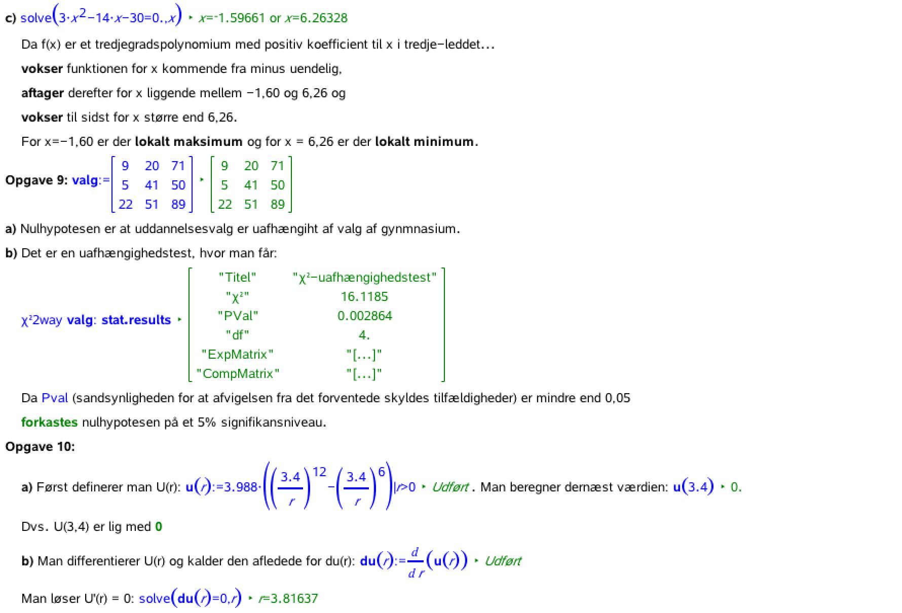 matematik på b niveau opgaver