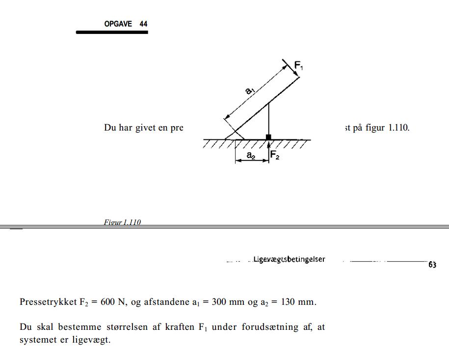 Statik og styrkel re opgave 44 kr fter matematik for Statik skript pdf