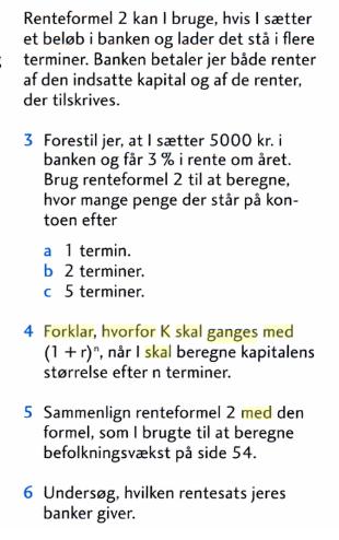 formel for renters rente